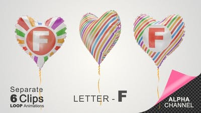 Balloons with Letter - F
