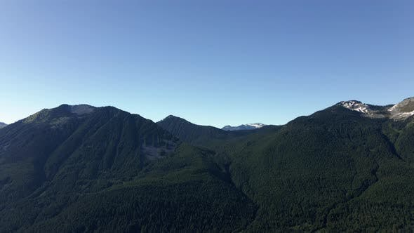 Thumbnail for Cascade Mountains Pan On Beautiful Day With Blue Sky