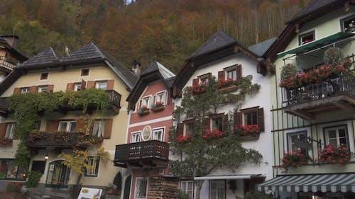 View Of Beautiful Austrian Mountains Village Hallstatt 6