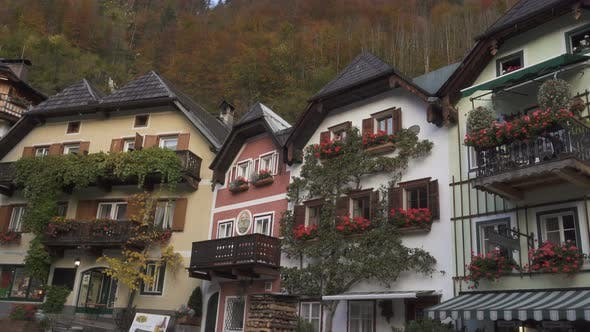 View Of Beautiful Austrian Mountains Village Hallstatt 6