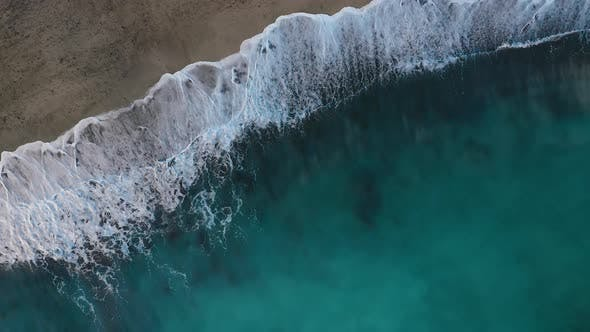 Thumbnail for Top View of the Desert Black Beach on the Atlantic Ocean, Coast of the Island of Tenerife