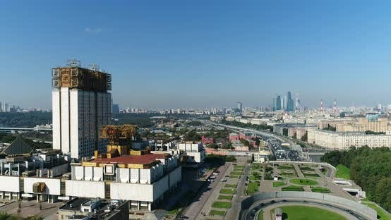 Thumbnail for Air View Of Moscow City With Academy Building 1