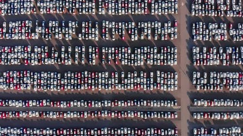Lot of Cars on Parking Lot