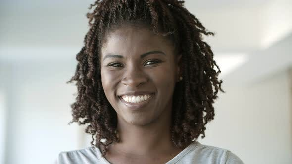 Cover Image for Closeup Shot of Smiling Beautiful African American Woman