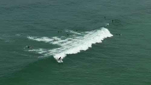 Aerial Footage of People Who are Surfing