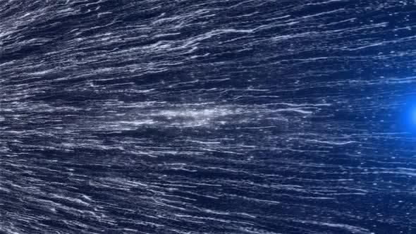 Particles Title Blue Background