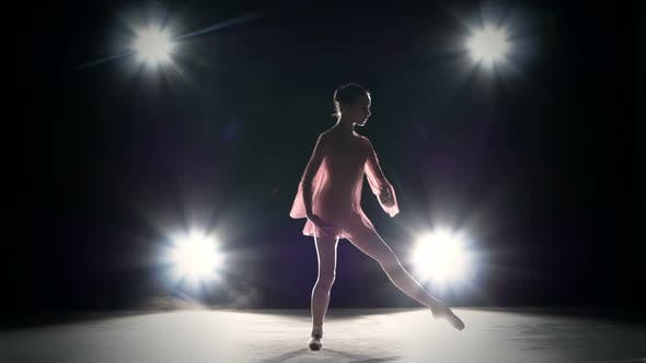Thumbnail for Young Ballerina Girl Dancer Jumping High in Sky