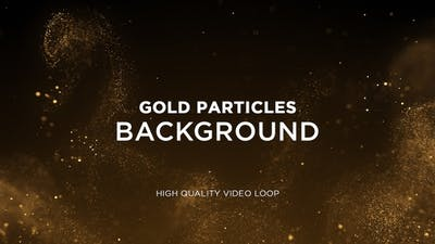 Gold Particles Background