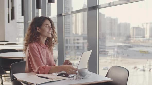 Thumbnail for Businesswoman Working in Open-space Office