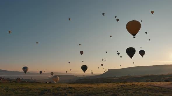 Early Morning Balloons In Cappadocia