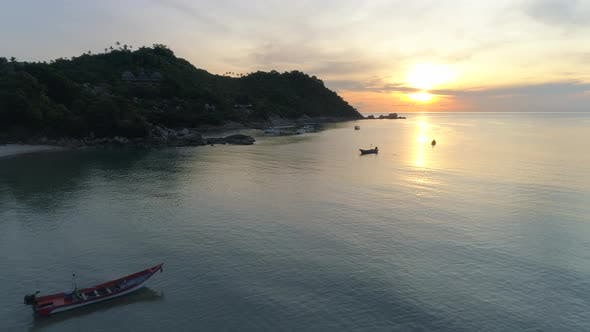 Thumbnail for Flight to Sunrise over Sea