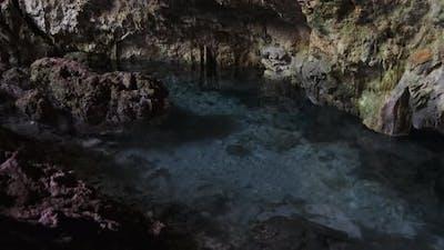 Cave with Fresh Water Underground River Cave Under the Cliffs Zanzibar Kuza Cave