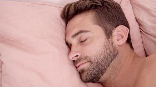 Handsome Guy Sleeping