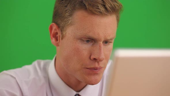 Thumbnail for Close up of businessman on laptop computer getting bad news