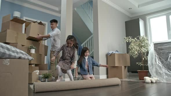 Thumbnail for Little Children Helping Parents Moving House