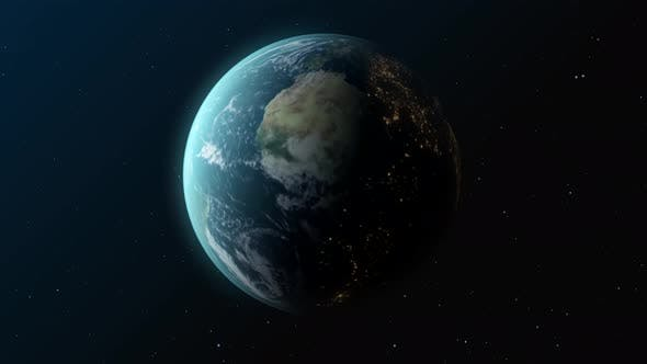 3d Earth In Space