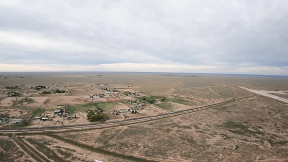 Thumbnail for Takeoff Departing Roswell New Mexico In Helicopter Above Airport