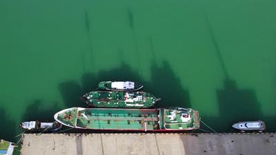 Ships And Boats With Shadows