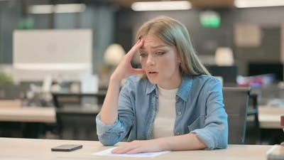 Young Woman Thinking Feeling Worried