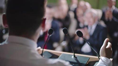 Male Politician Delivering Speech