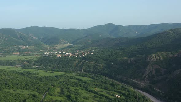 Flight Over The Town Of Madjarovo In Bulgaria