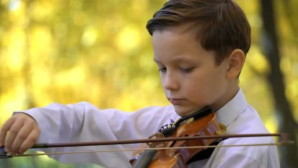 Cover Image for Boy Playing The Violin