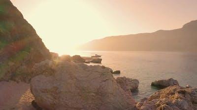 Seashore Coastline with Cliffs and Rocks
