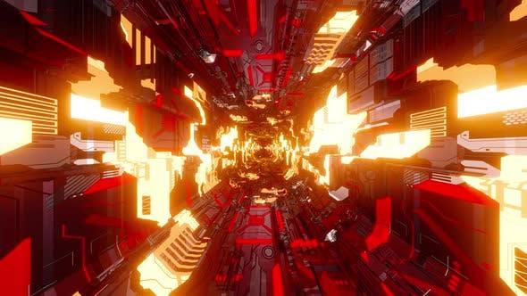 Inside a electronic machine
