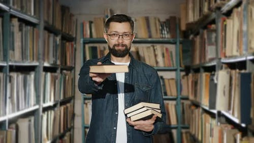 A Bearded Man in Glasses Suggests Read a Book