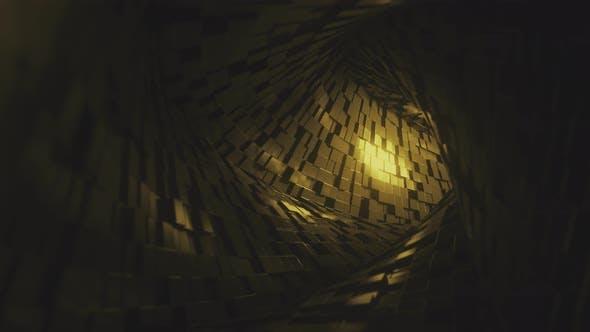 Thumbnail for Flight Through Tunnel Made of Golden Bricks