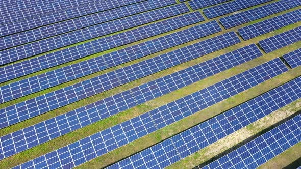 Thumbnail for Aerial View Solar Panels In Nature