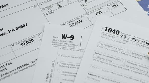 Thumbnail for US Individual Income Tax Return Form