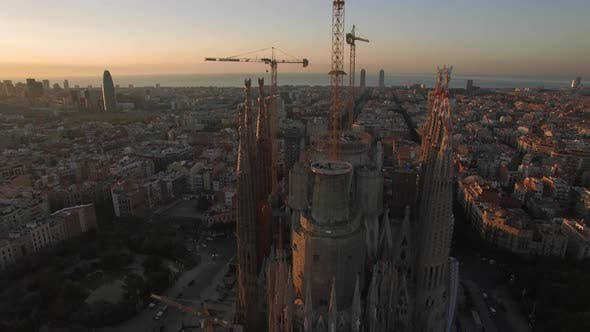 Thumbnail for Aerial View of Barcelona with Sagrada Familia