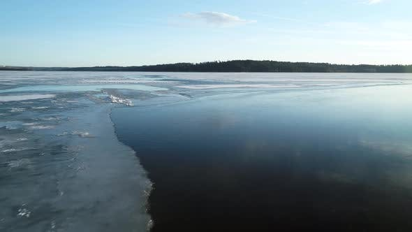 Thumbnail for Flying Over Frozen Lake Ice