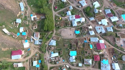 A Village on Vast Plain in Terrestrial Geography
