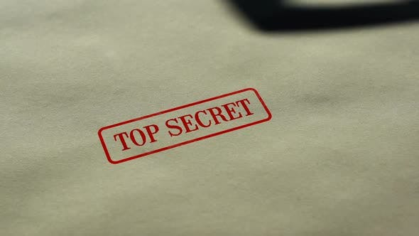 Thumbnail for Top Secret Seal Stamped on Blank Paper Background, Restricted Access, Closed