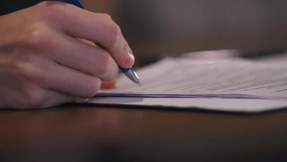 Close Up of Document Signing