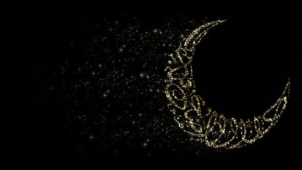 Eid Al Adha Mubarak Moon Decorations