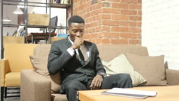 Thumbnail for Coughing, Sick Black Businessman