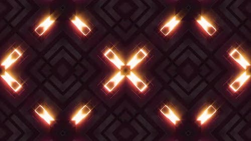 Visual Neon Light 3D Glow Shape Background V2