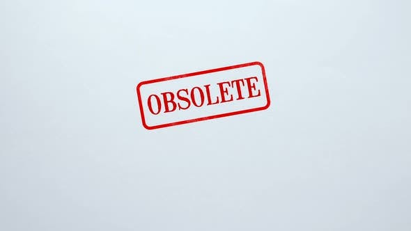 Obsolete Seal Stamped on Blank Paper Background, Outdated Information, Not Valid