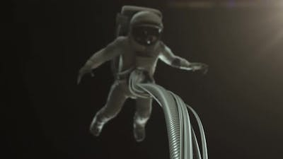 Astronaut Floating in Space