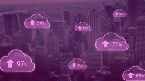 Upload in the digital cloud