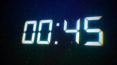 Close-up of 60 Seconds Countdown