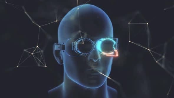 Steampunk Glasses In Head 4k
