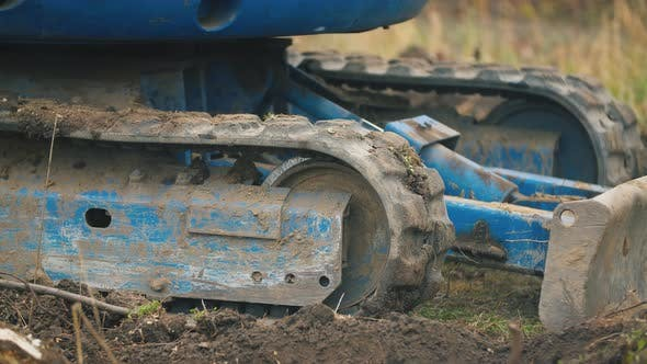 Thumbnail for Rubber Track at a Small Excavator