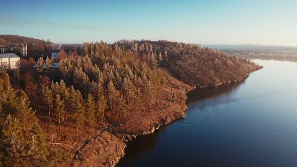 Beautiful Lake Near the Forest