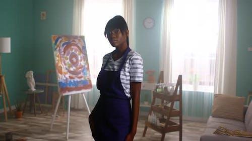 Portrait of Talented Black Woman