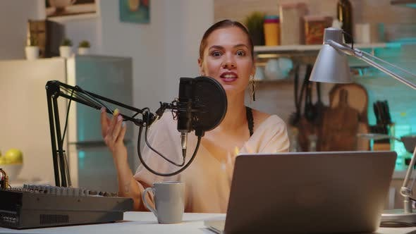 Holding Professional Microphone