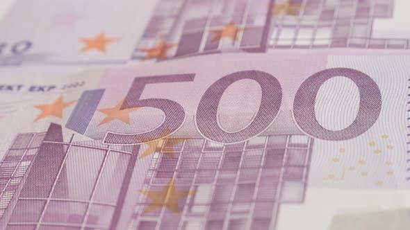Thumbnail for European Union paper money banknotes  slow pan 4K 2160p 30fps UltraHD footage -  Panning  over Euro